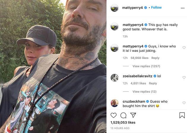 Matthew Perry Made A Joke About David Beckham Wearing A Friends T-Shirt But Not Everyone Got It