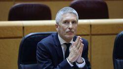 El Gobierno salva la reprobación de Marlaska en el Congreso con la abstención de ERC, Bildu y