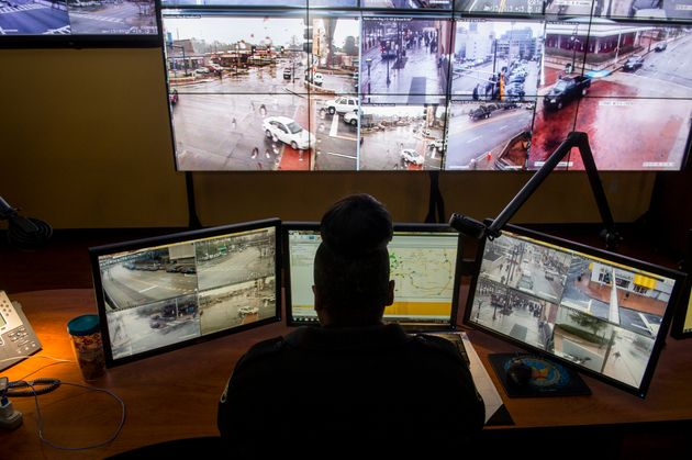 The Operation Shield Video Integration Center (seen here in January 2015) allows Atlanta police to monitor...
