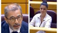 El 'corte' del presidente de esta comisión del Senado a Olona (Vox) por lo que ha hecho: su cara lo dice