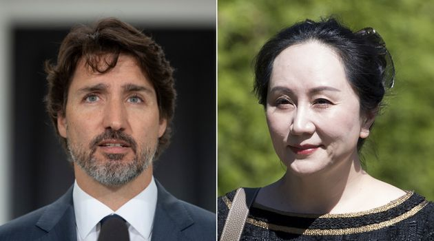 Prime Minister Justin Trudeau and Huawai executive Meng Wanzhou are shown in a composite of images from...