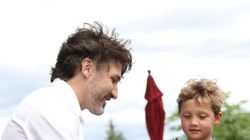 Hadrien Gets Quality Time With Dad Justin Trudeau On Saint-Jean-Baptiste