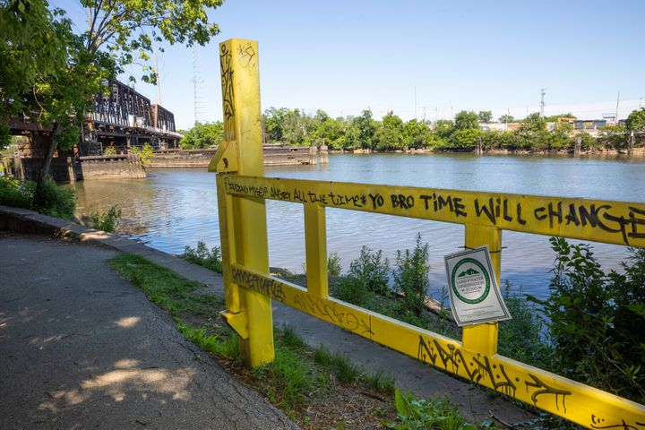 "The Schuylkill River in Philadelphia, where the body of Dominique ""Rem'mie"" Fells was found inside a suitcase in June 2020."
