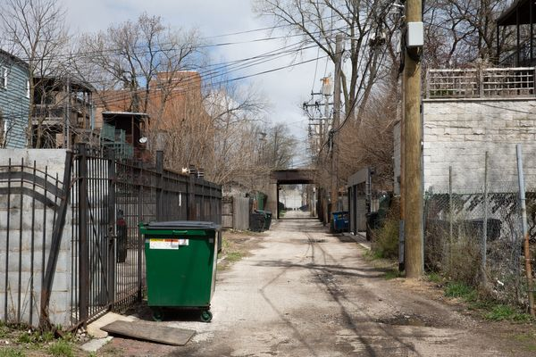 The body of Dejanay Stanton, a 24-year-old transgender woman, was found in this alley in the Bronzeville neighborhood of