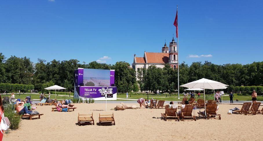 Η κεντρική πλατεία του Βίλνιους μεταμορφώθηκε σε τέλεια