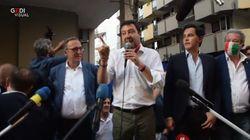 Salvini contestato ad Andria: