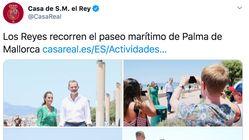 El error en este tuit de los reyes en Palma por el que les están lloviendo críticas: