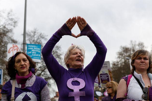 Una marcha feminista en
