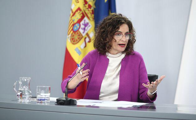 La ministra de Hacienda y portavoz del Gobierno, María Jesús