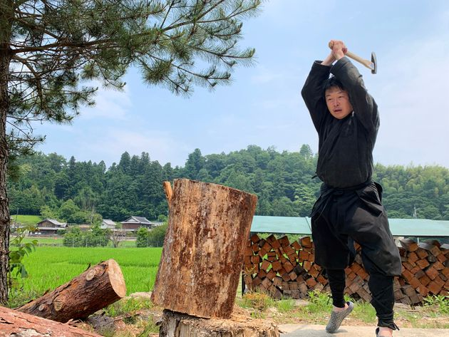 """""""J'ai appris que les ninjas travaillaient comme paysans le matin et s'entraînaient..."""