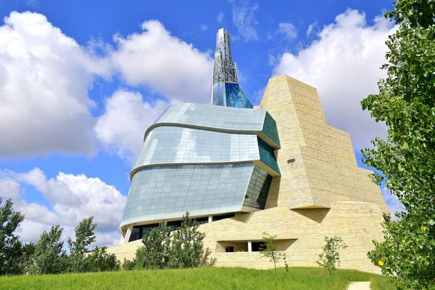 Exterior views of the Canadian Museum for Human Rights in