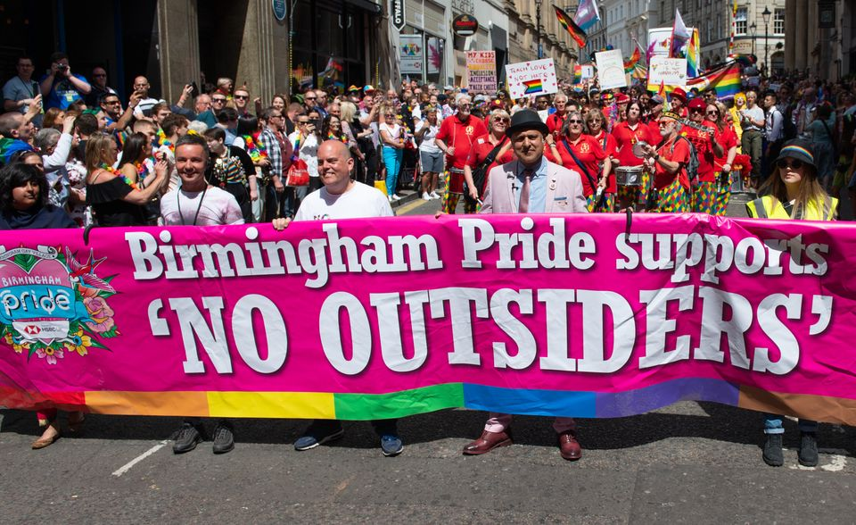 Andrew Moffat, LGBT+ Muslim campaigners Saima Razzaq and Khakan Qureshi and Birmingham Pride director...