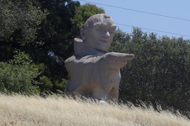 A Junipero Serra statue in Hillsborough, California, on