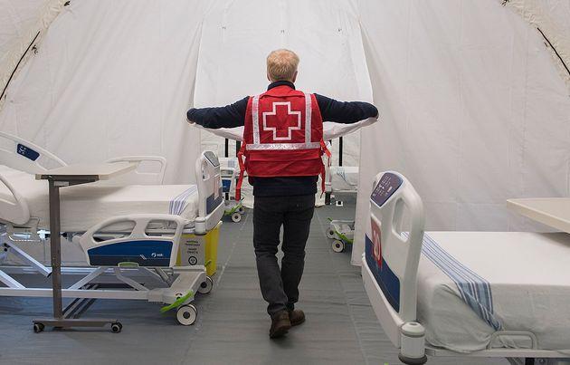Des bénévoles de la Croix-Rouge avaient prêté main-forte à l'hôpital...