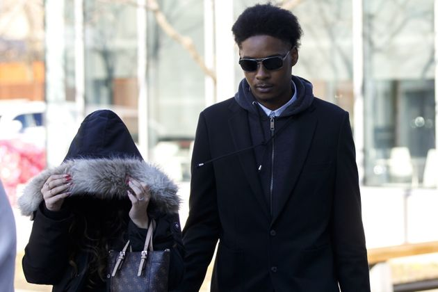 Dafonte Miller arrives for his testimony at the Durham Region Courthouse in Oshawa, Ont. on Nov. 6,