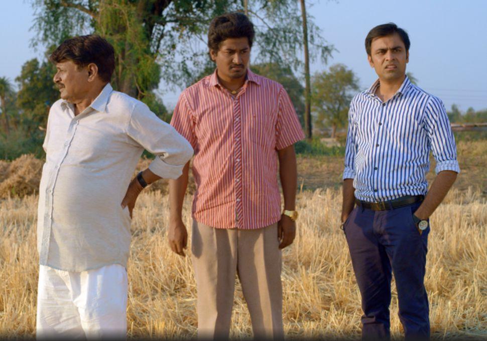 Raghubir Yadav, Chandan Roy and Jitendra Kumar in a still from TVF's 'Panchayat'
