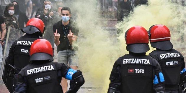 Disturbios en el mitin de Vox en