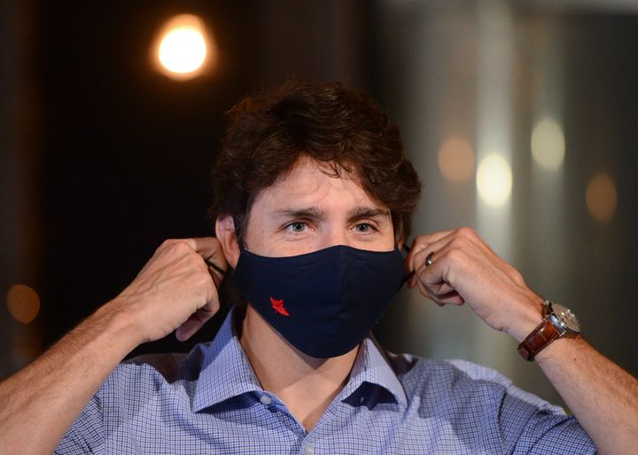 Prime Minister Justin Trudeau holds a news conference at Big Rig Brewery amid the COVID-19 pandemic in Ottawa on Friday.