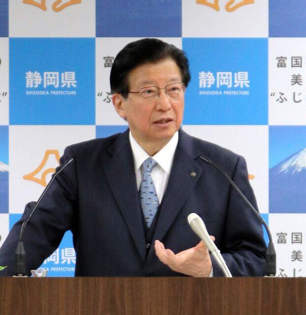 静岡県の川勝平太知事=2019年12月、県庁