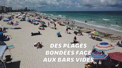 Face au coronavirus, les bars referment en Floride, les plages restent elles