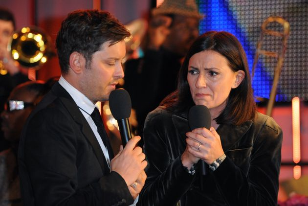 Davina McCall and Brian Dowling at the Ultimate Big Brother final in
