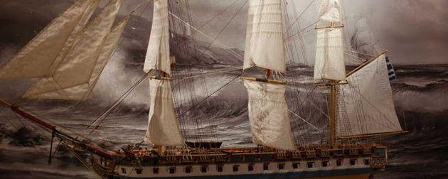 Η φρεγάτα «Ελλάς». Το πλέον σύγχρονο πολεμικό πλοίο που κυκλοφορούσε στη Μεσόγειο την περίοδο