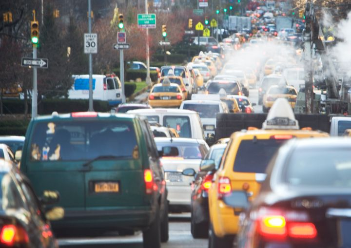 Fewer traffic jams during lockdown have led to less pollution.