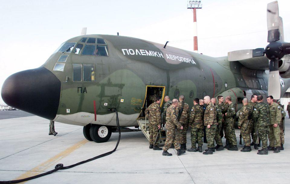 Φωτογραφία αρχείου - 17/02/2002 Αναχώρηση από το αεροδρόμιο της Μίκρας για την πρωτεύουσα του Αφγανιστάν...