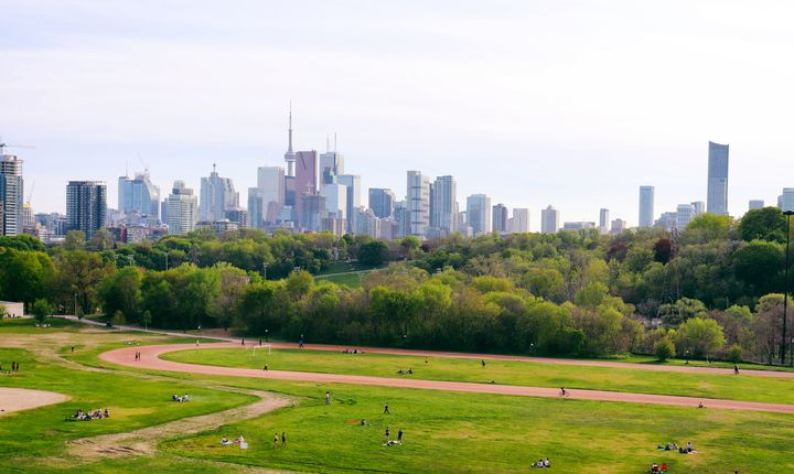 The Toronto skyline as seen from Riverdale Park. Toronto's suburbs are outpacing the city as the housing market recovers from the pandemic lockdowns.