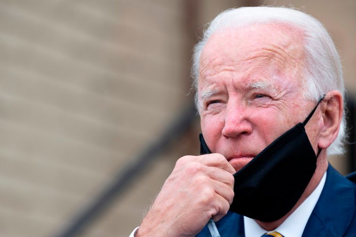 Former Vice President Joe Biden speaks about reopening the country in Yeadon, Pennsylvania, on June 17.
