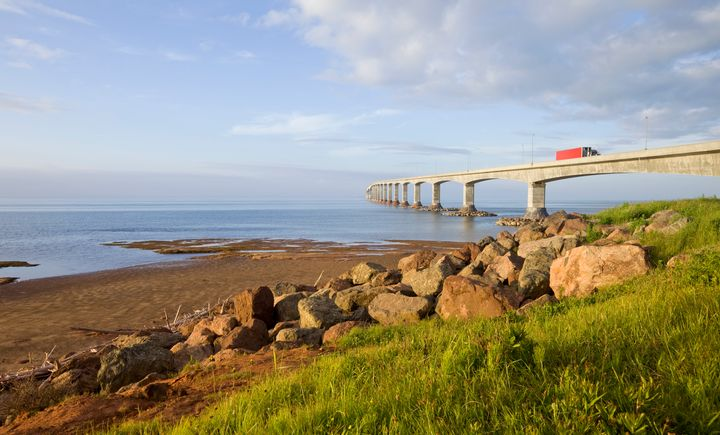 The Confederation Bridge linking New Brunswick and Prince Edward Island. The island has seen a spike in anti-outsider sentiment since tourists began returning.