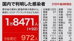 新型コロナ、全国で新たに92人が感染。東京では宣言解除後で最多