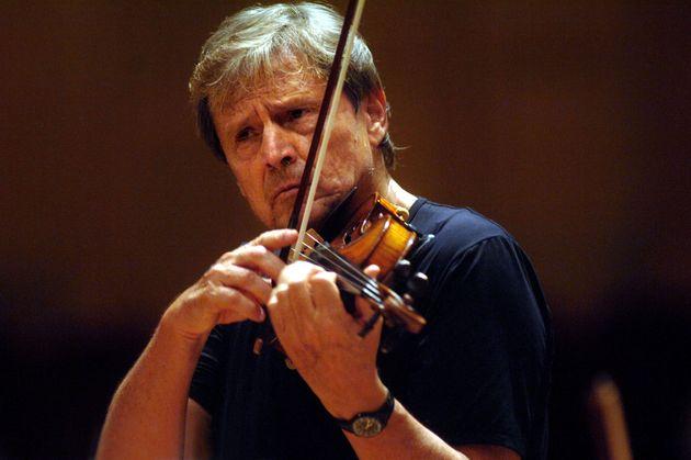 BOLOGNA, ITALY - JUNE 10: Uto Ughi perform with I Solisti Veneti conducting by Claudio Scimone at theatre...