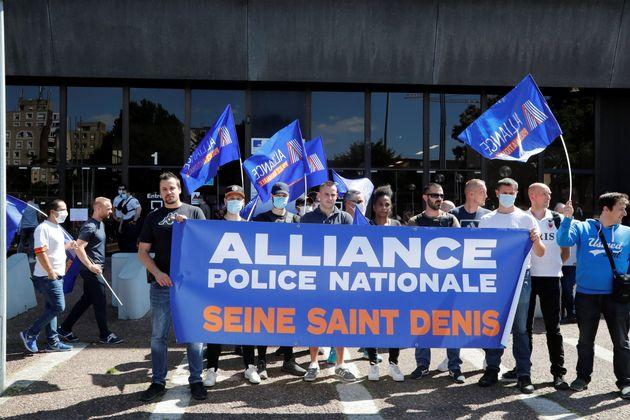 Le syndicat Alliance Police lors d'une