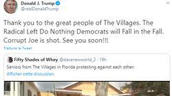 Donald Trump partage puis efface une vidéo où l'un de ses partisans crie