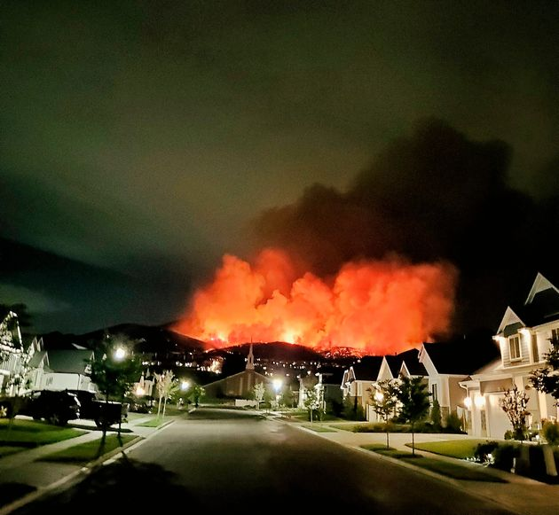 The Traverse Fire has consumed around 1,000 acres as of Sunday