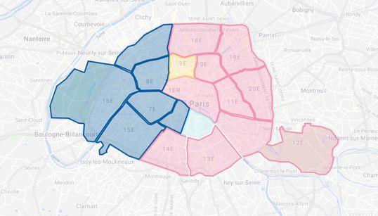 Les résultats à Paris, arrondissement par