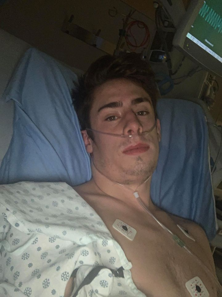 Matt Greenshields had to be outfitted with oxygen tubes when he was diagnosed with both COVID-19 and mononucleosis.