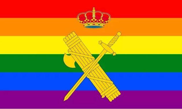 Imagen de la Guardia Civil con motivo del Orgullo