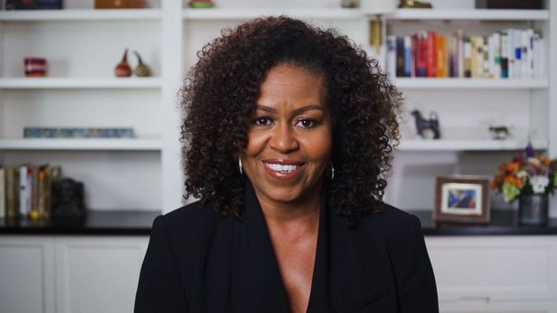 Michelle Obama is seen during the 2020 BET