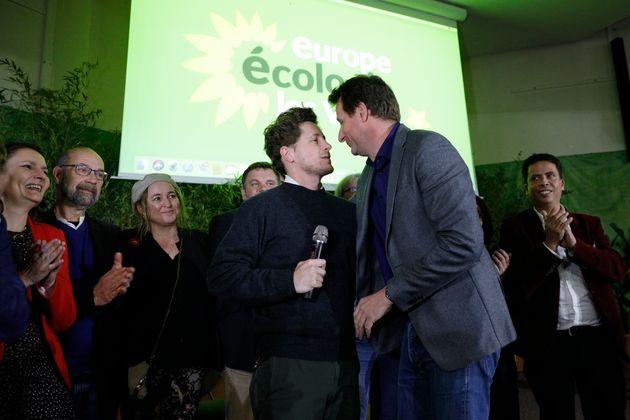 Julien Bayou, secrétaire national d'EELV et Yannick Jadot, eurodéputé EELV, en novembre