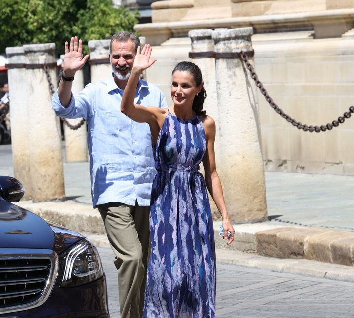 Letizia este lunes visitando la catedral de Sevilla.