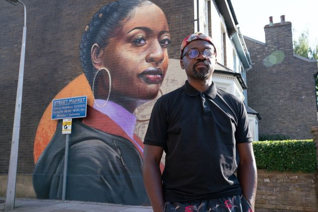 Artist Dreph created a stunning new mural for the EastEnders