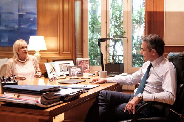 Ο πρωθυπουργός με την Αννα