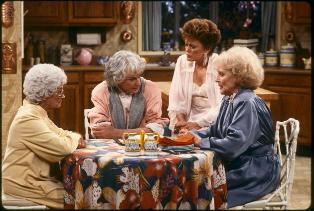 The Golden Girls cast (l-r) Estelle Getty, Bea Arthur, Rue McClanahan and Betty