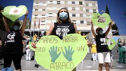 Trabajadoras de limpieza del Marañón se manifiestan: