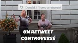 Trump retweete la vidéo d'un couple menaçant des manifestants au