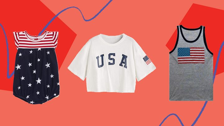 We found 4th of July tees for the family from Walmart, Target, Old Navy and Amazon.