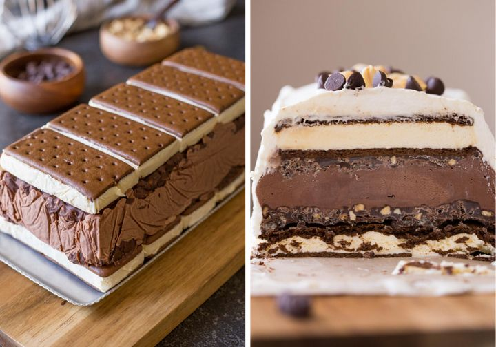Lovely Little Kitchen's Chocolate Peanut Butter Ice Cream Slice Cake