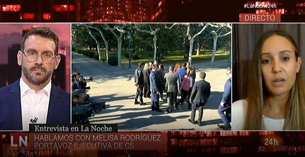 Melisa Rodríguez en el Canal 24